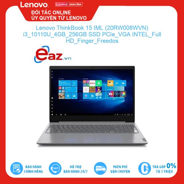 Bảng giá Lenovo ThinkBook 15 IML (20RW008WVN) i3 10110U 4GB 256GB SSD PCIe VGA INTEL Full HD Finger Freedos Brand New 100%, hàng phân phối chính hãng, bảo hành toàn quốc Phong Vũ