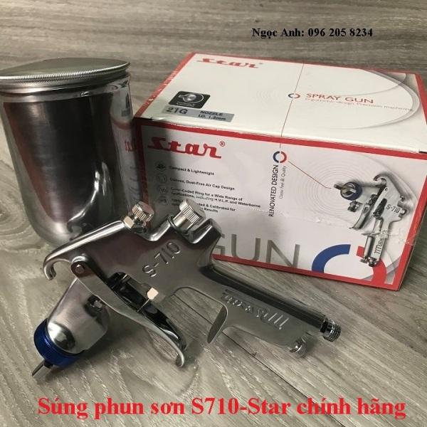 Bép phun sơn s710 chính hãng lỗ phun 1,3mm Star Đài Loan
