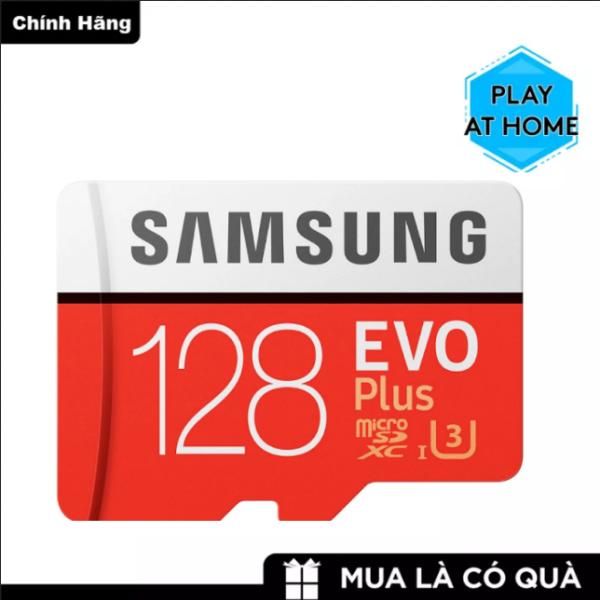 [ Hàng Mới ]  Thẻ nhớ MicroSDXC Samsung Evo Plus 128GB U3 4K R100 MB/s W90 MB/s - Box Anh (Đỏ) - Thẻ nhớ tốt - Bảo hành 3 năm