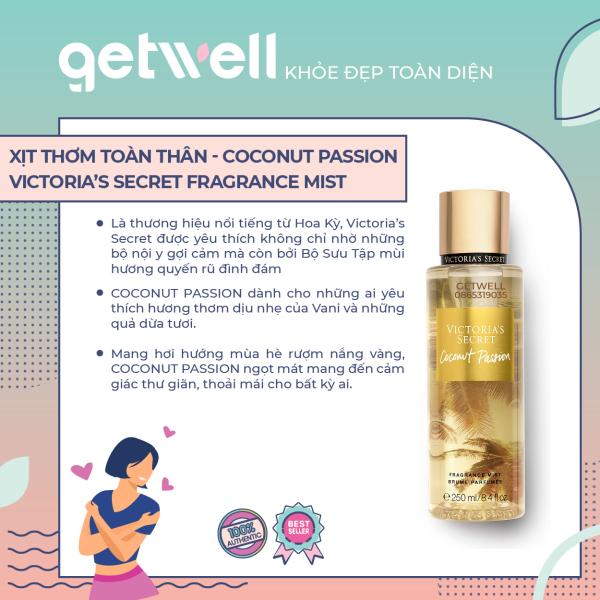 [HCM]Xịt thơm Victorias Secret Body Mist - Coconut Passion (250ml)