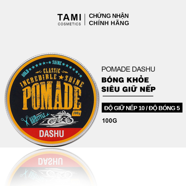 Pomade tạo kiểu tóc DASHU Classic Incredible Shine 100g Sáp vuốt tóc nam sáp tạo kiểu tóc nam giới vào nếp mạnh mẽ, giữ form lâu TM-PM02 nhập khẩu