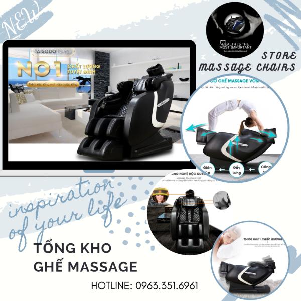 [HOT 2021] Ghế massage TAISODO TS-900 được nâng cấp hoàn toàn mới, với công nghệ AI 9.0 liên động tự động scan massage toàn thân thời thượng, quý phái, trị liệu theo phương pháp Nhật Bản