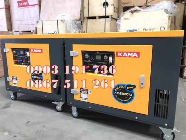 Máy phát điện Kama 7800 AT ch.ính hãng tại Bắc Giang, máy phát điện 6kw chạy d.ầu