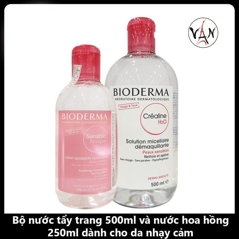 Combo Nước Tẩy Trang Bioderma 500ml & Nước Hoa Hồng Bioderma 250ml Dành Cho Da Nhạy Cảm cao cấp