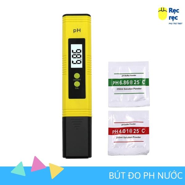 Máy đo PH nước tặng hộp, 2 gói test PH nước