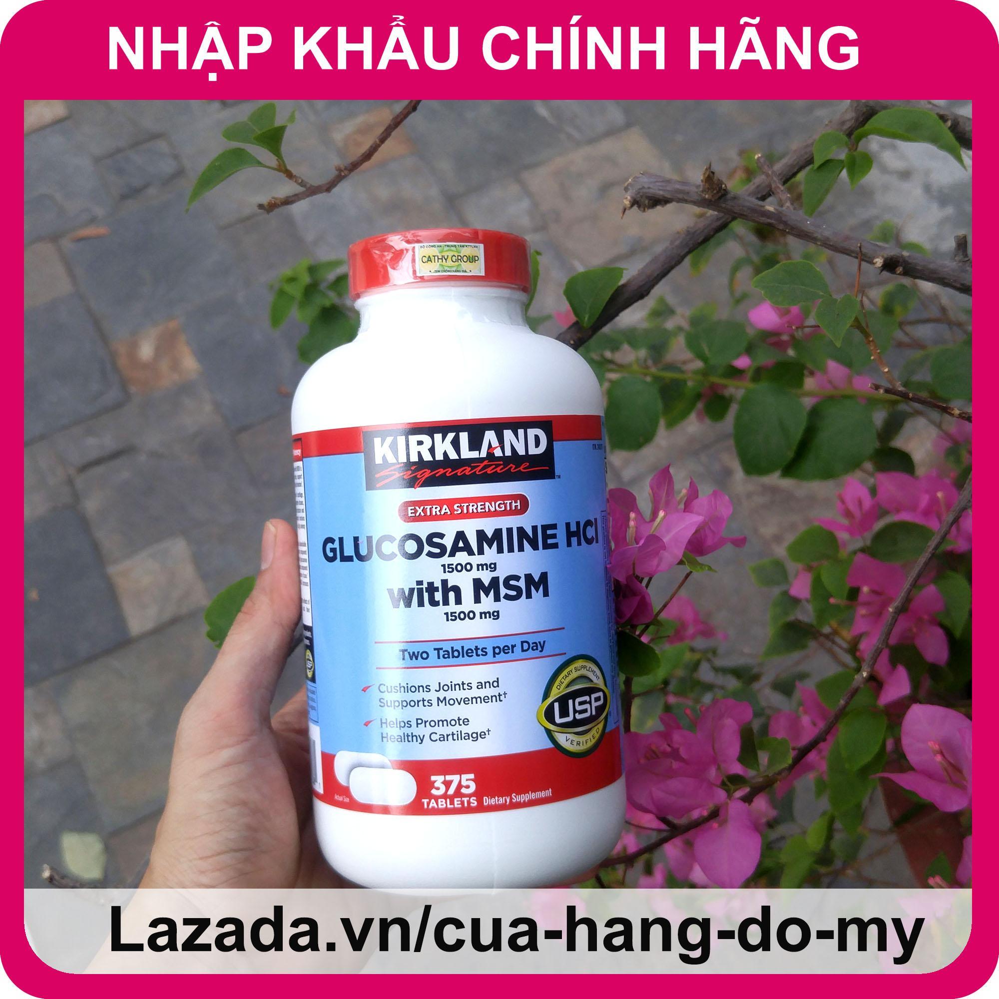 Viên Uống Glucosamine Bổ Xương Khớp Glucosamin Kirkland Mỹ 375 Viên [Date MỚI] - Hỗ trợ giảm đau, chống thoái hóa xương khớp