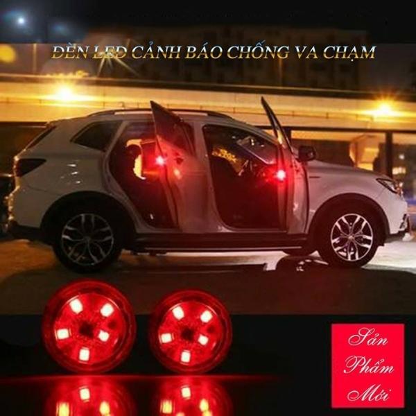 Bộ 2 đèn led cảm biến ánh sáng đỏ nhấp nháy chức năng cảnh báo va chạm khi mở cửa xe ô tô