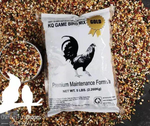 Ngũ Cốc Mỹ KQ GameBird Mix Gold bao nguyên 2.268kg