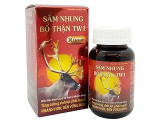 Viên uống Sâm Nhung Bổ Thận TW1 tăng cường sinh lý nam, bổ thận, tráng dương - Hộp 30 viên thành phần thảo dược thumbnail