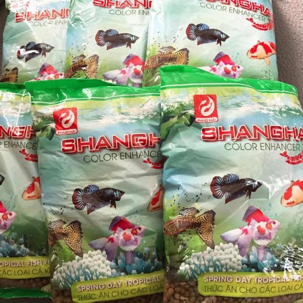 combo 5 Gói Thức Ăn Cá ShangHai Viên To 500g, Vừa Miệng Cá Size Lớn, Giúp Cá Cảm Giác Đớp Mồi, Mau Ăn, Chóng Lớn