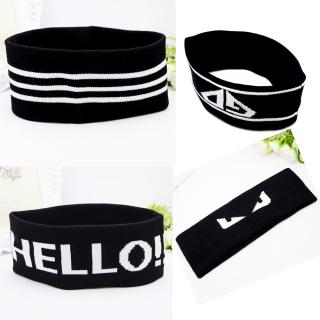 Băng đô headband Kpop, Cpop thời trang thể thao rộng 6-8cm dệt kim tập yoga, gym PST bản to trẻ trung TB2.2 Hello thumbnail