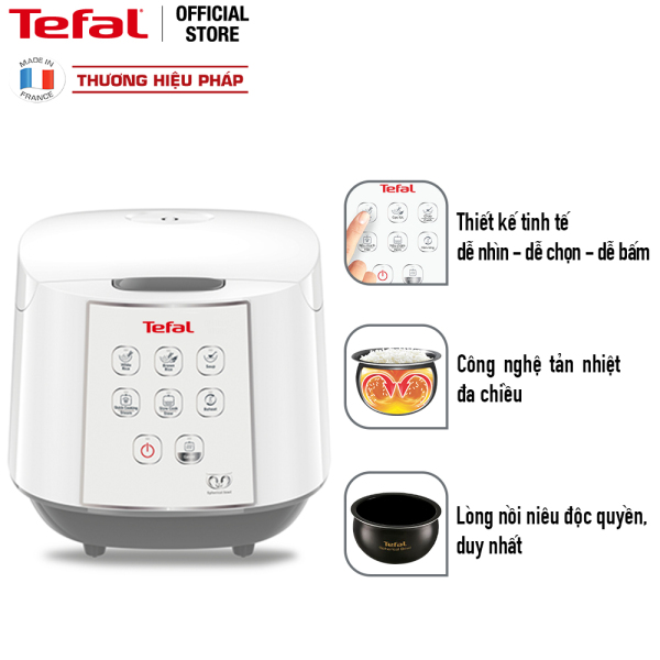 Nồi cơm điện tử Tefal RK732168 1.8L 750W (Trắng)