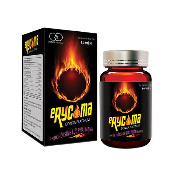 Erycoma DongA Platinum giúp bổ thận tráng dương, tăng cường sinh lực phái mạnh, giảm quá trình mãn dục ở nam giới. nhập khẩu