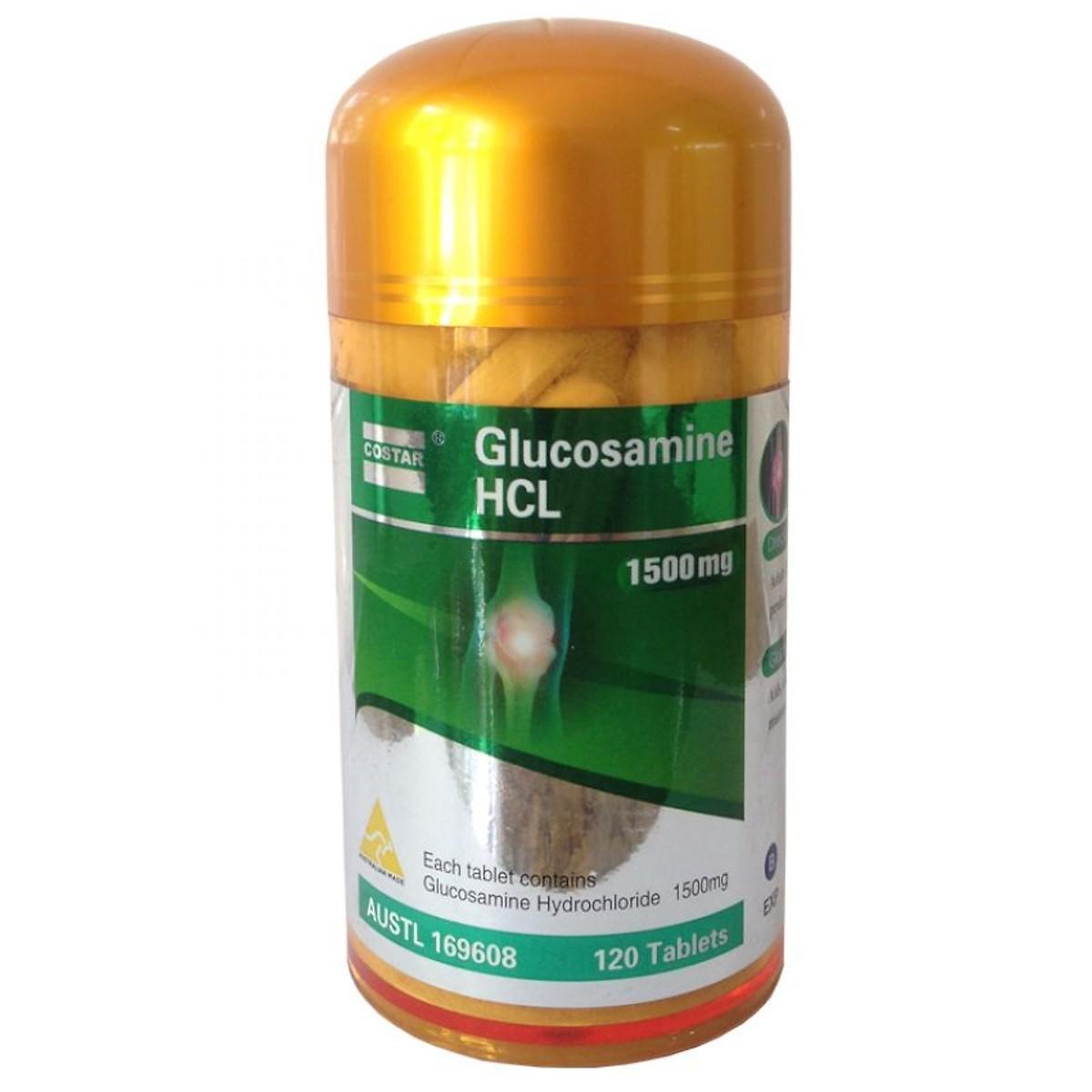 Hỗ Trợ Điều Trị Bệnh Xương Khớp Costar Glucosamine HCL 1500mg Hộp 120 Viên