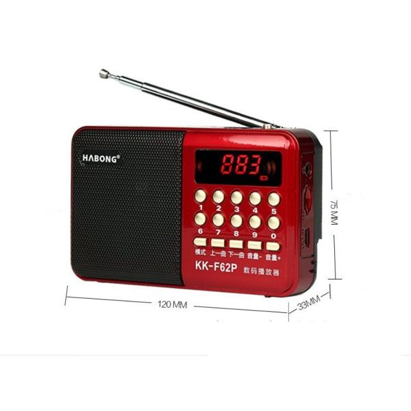 Máy nghe nhạc, mini MP3 FM radio kk-62 - 6152