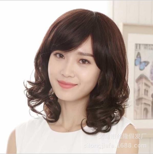 [TẶNG KÈM LƯỚI] Tóc giả nữ nguyên đầu Hàn Quốc - TG50 ( MÀU NÂU TỐI ) nhập khẩu