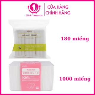 Bông tẩy trang - Bông tẩy trang Miniso Nhật bản gói 180 miếng tiện lợi làm sạch da,dưỡng trắng da thumbnail