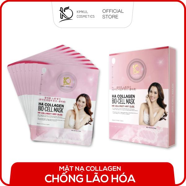 (Mã Freeship+Giảm 10K) Mặt nạ Collagen Hàn Quốc KimKul HA Collagen Bio-Cell Mask (Giảm thêm 30K khi mua 10 item) - Mặt nạ Collagen chống lão hóa chuẩn Hàn Quốc dưỡng trắng, ngừa lão hóa cao cấp