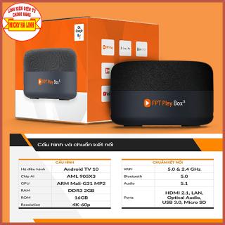 [HCM]FPT Play Box S 2021 CHÍNH HÃNG mã T590 Smart Home Smart hub điều khiển giọng nói không chạm hands free Android tv box Fpt Kết hợp Tivi Box và Loa thông minh thumbnail