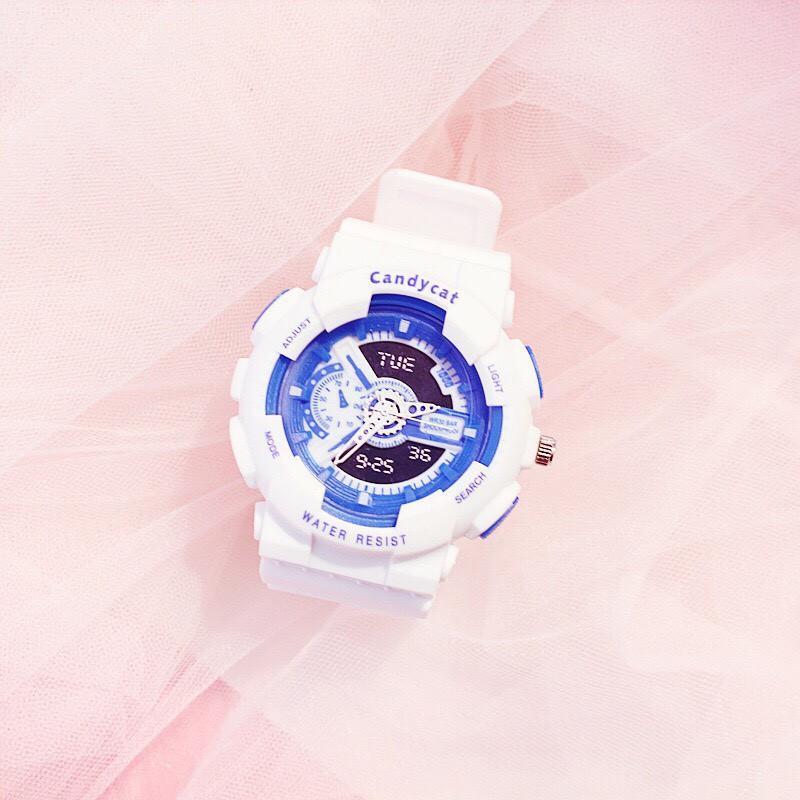 Nơi bán (Tặng kèm hộp và pin) Đồng hồ thời trang nam nữ Candycat mẫu chạy kim giả điện tử