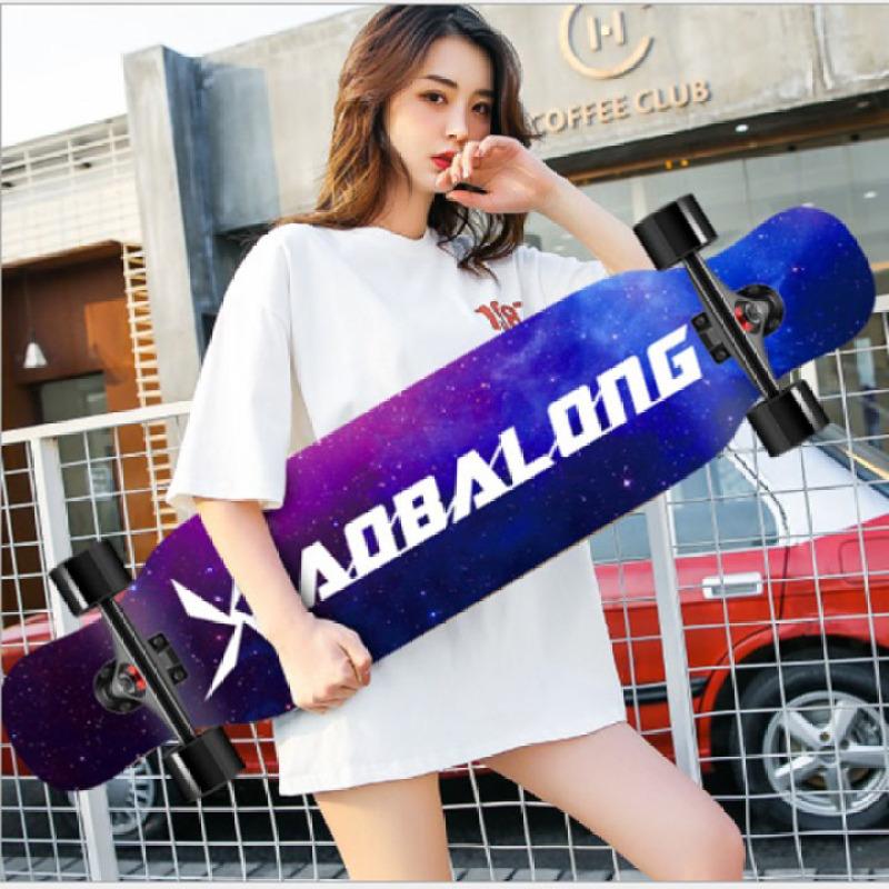 Ván trượt LONGBOARD, ván trượt dài size 107 cm dành cho nữ biểu diễn nhảy múa, ván trượt mặt nhám mặt hình nhiều họa tiết vật liệu gỗ cao cấp