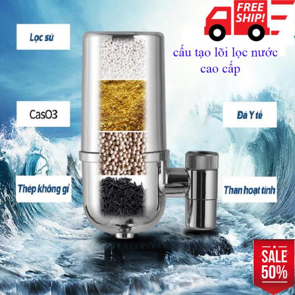 Bảng giá Thiết Bị Lọc Nước Tại Vòi, Máy Lọc Nước Trực Tiếp tại vòi, Lọc Nước Đầu Vòi-Lắp đặt đơn giản, Lọc nhanh cặn bẩn và vi khuẩn trong nước 7 lớp lọc Cao cấp. Chất liệu nhựa ABS và Inox cao cấp Làm từ vật liệu chuẩ