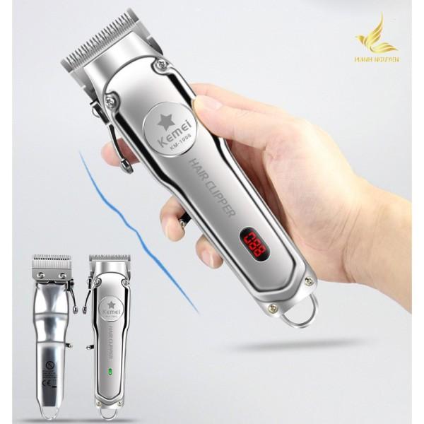Tông đơ cắt tóc Kemei 1998 Chính Hãng Pin Lithium 2000mAh (HÀNG FULLBOX - BH 12 THÁNG) cao cấp