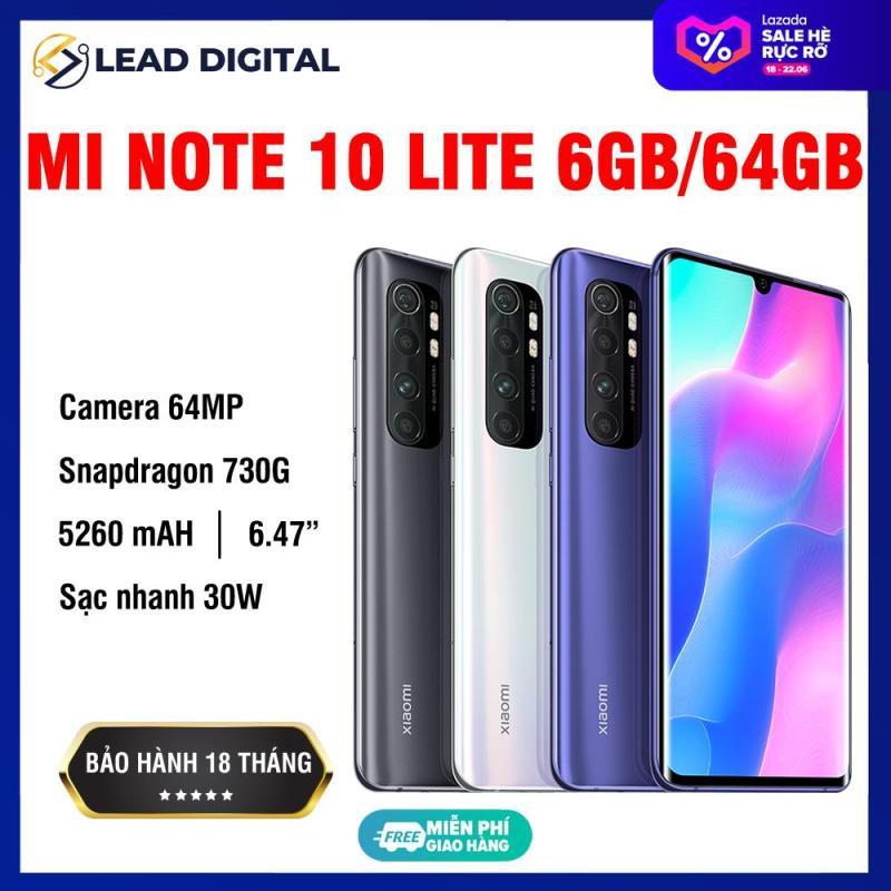 [GLOBAL VERSION] Điện thoại Xiaomi Mi Note 10 Lite 6GB/64Gb - Snapdragon 8 nhân 730G (8nm), Màn hình 6.47 inches, Pin siêu khủng 5260mAh sạc nhanh 30W, 4 Camera 64MP/8MP/5MP/2MP góc siêu rộng - BH CHÍNH HÃNG 18 tháng