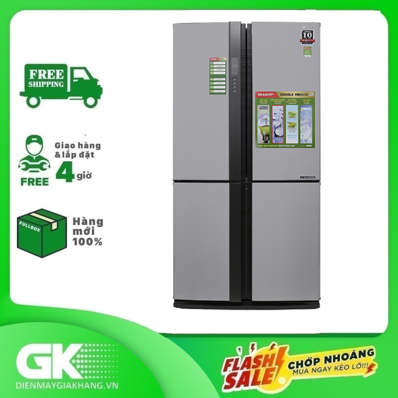 Tủ lạnh Sharp Inverter 605 lít SJ-FX680V-ST