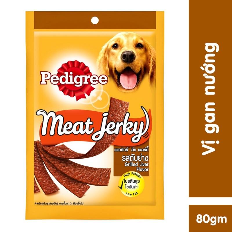 Thức ăn vặt cho chó Pedigree Meat Jerky vị gan nướng 80g - kgd530