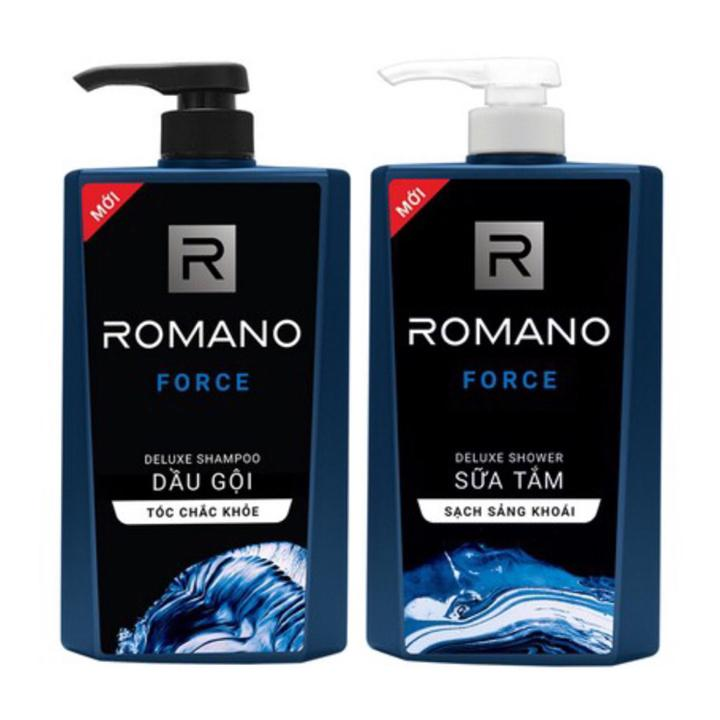 Combo Romano Force: 1 chai Dầu Gội 650g + 1 chai Sữa tắm 650g
