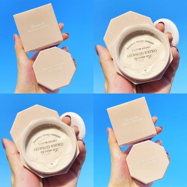 Phấn Phủ Bột Lameila Makeup Powder Vỏ Hồng Dễ Thương, Kiềm Dầu, Che Khuyết Điểm Tốt (K10)
