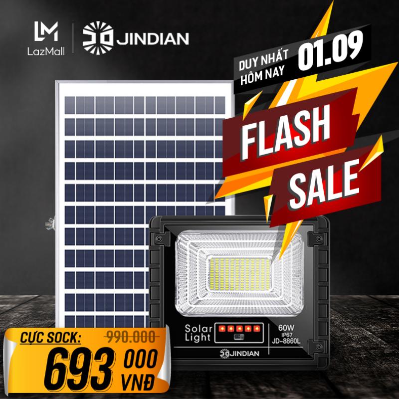 Đèn Năng Lượng Mặt Trời 60W JINDIAN JD8860L - Model 2020   BẢO HÀNH 2 NĂM