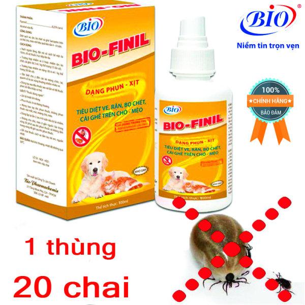 Sỉ 20 chai thuốc xịt BIO-FINIL tiêu diệt ve, bọ chét, rận, ghẻ trên da chó mèo siêu hiệu quả-79203