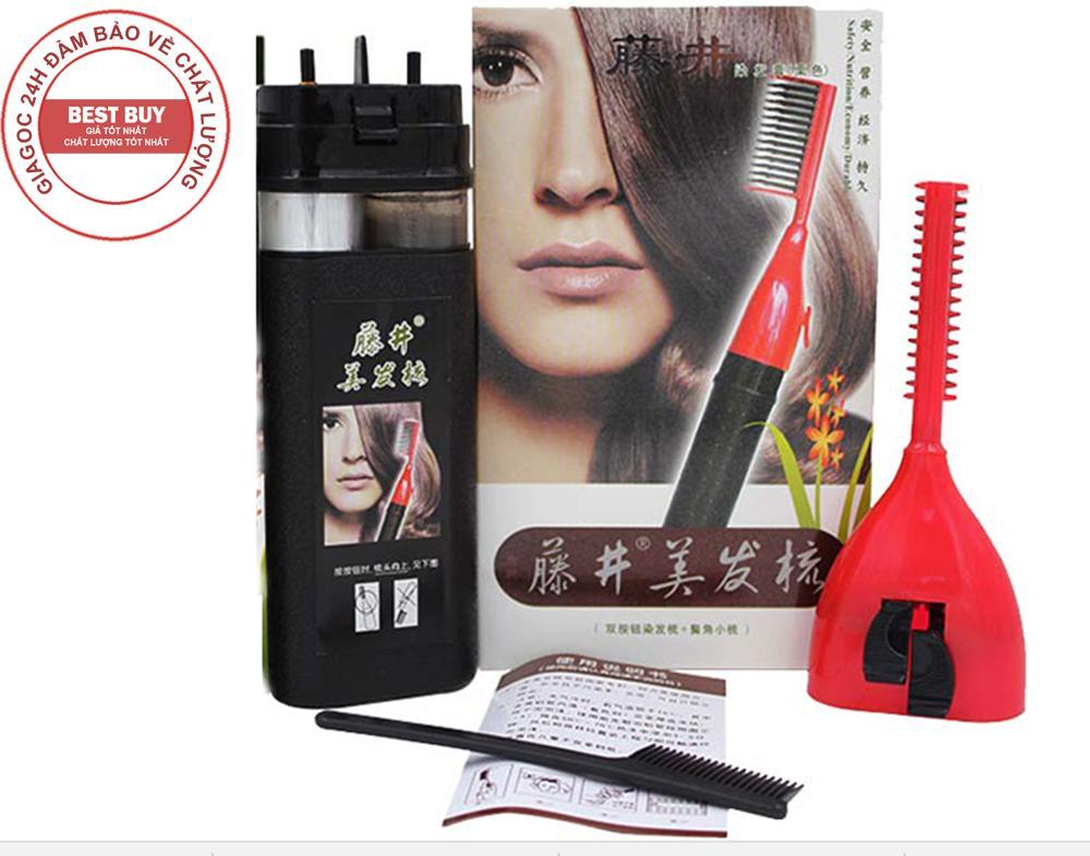 Lược nhuộm tóc thông minh Teng Jing mới (Đen) nhập khẩu