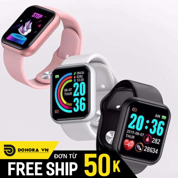 Đồng hồ Smart Watch thông minh Y86 cực hot 2020, Đồng hồ theo dõi sức khỏe tiện lợi, màn hình cảm ứng, dây TPU cực bền bán chạy