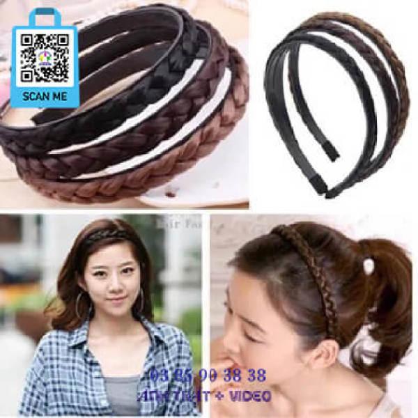Giá bán Băng Đô Cài Tóc Bờm Tóc Tết Thắt Bím Hàn Quốc Siêu Đẹp - Thương Hiệu VỢ CHỒNG TÔI