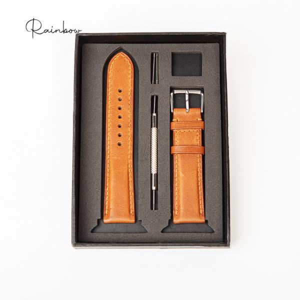 Nơi bán Dây da đồng hồ chất liệu da Vachetta nhập khẩu cao cấp Rainbow WTR001, sang trọng và đẳng cấp
