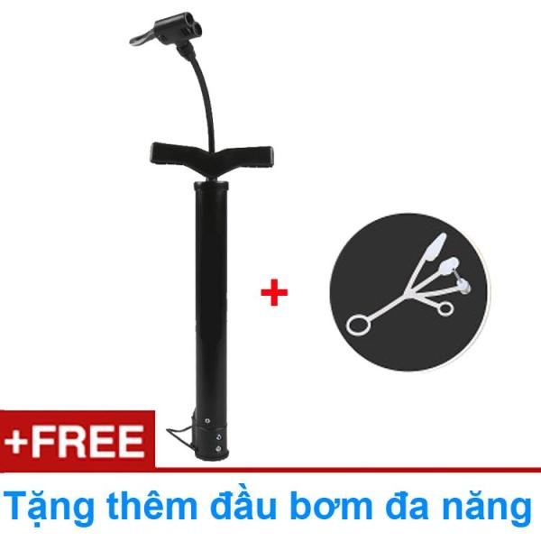 Bơm tay mini cho xe máy, xe đạp (van to van nhỏ đều được) loại ống thép sơn tĩnh điện