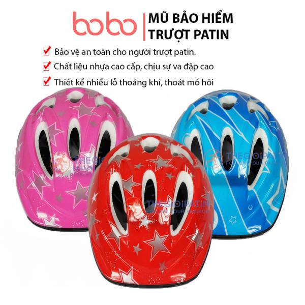 Giá bán Mũ Bảo Hiểm Trượt Patin và Xe Đạp BoBokids, chất liệu nhựa cao cấp, chịu sự va đập cao, thiết kế nhiều lỗ thoáng khí