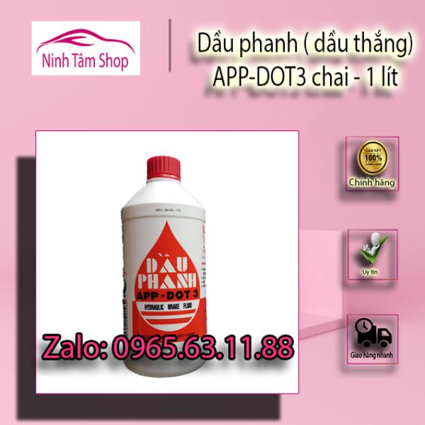 Dầu phanh ( dầu thắng) APP-DOT3 chai 1lit