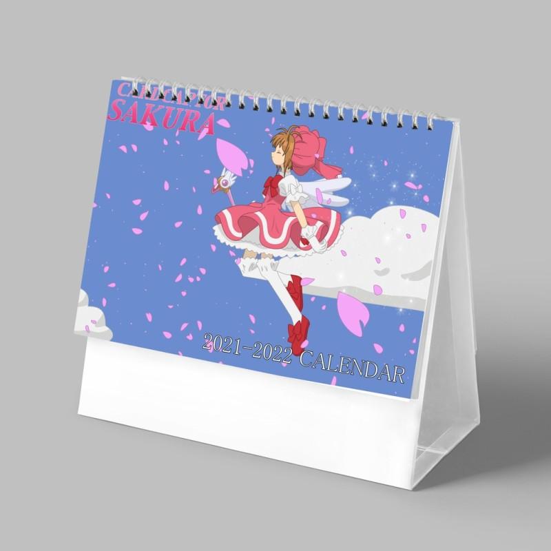 (Lịch 2021-2022) Lịch Cardcaptor Sakura Thủ Lĩnh The Bài in ảnh đẹp anime chibi lịch để bàn