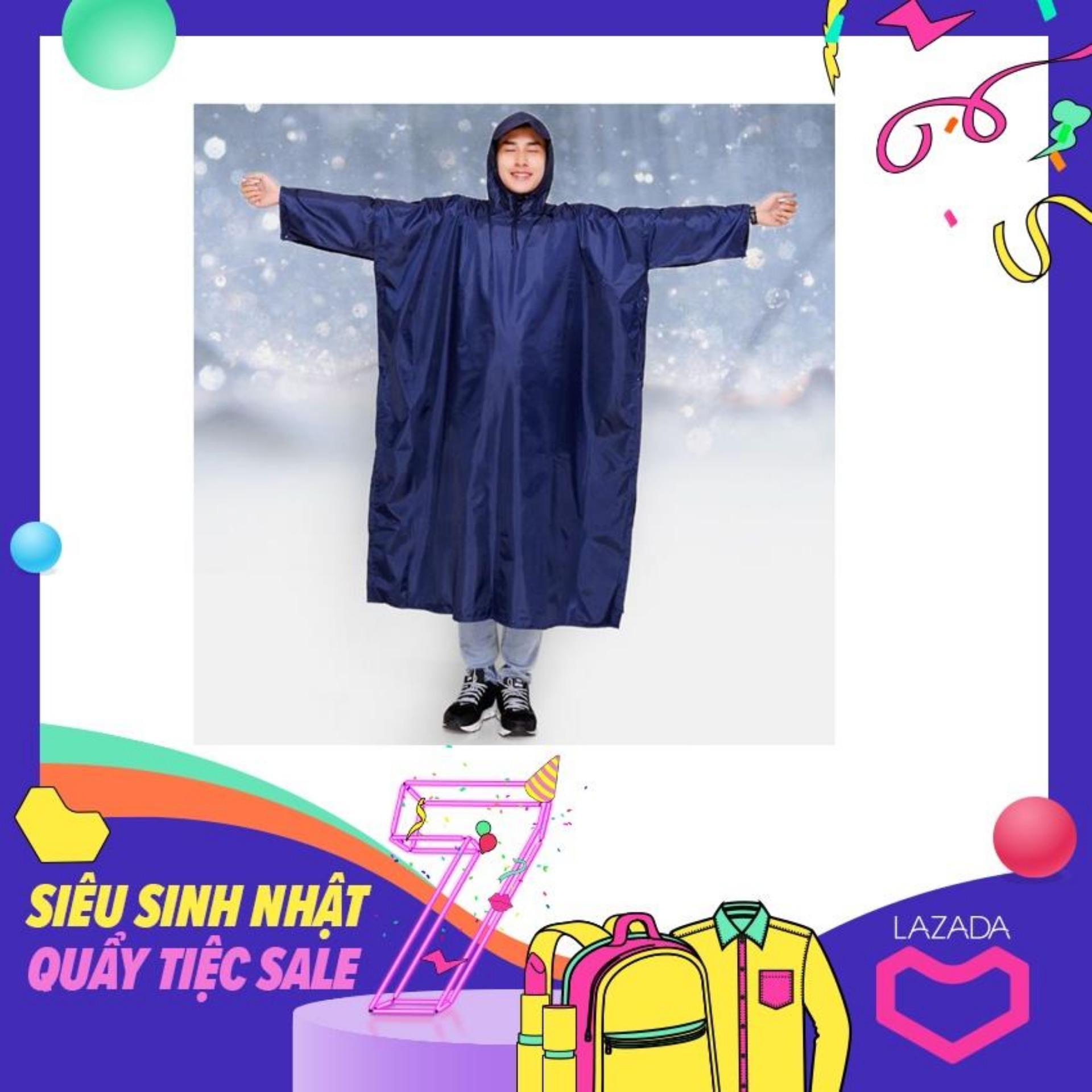 Áo mưa 1 đầu - vải dù cao cấp