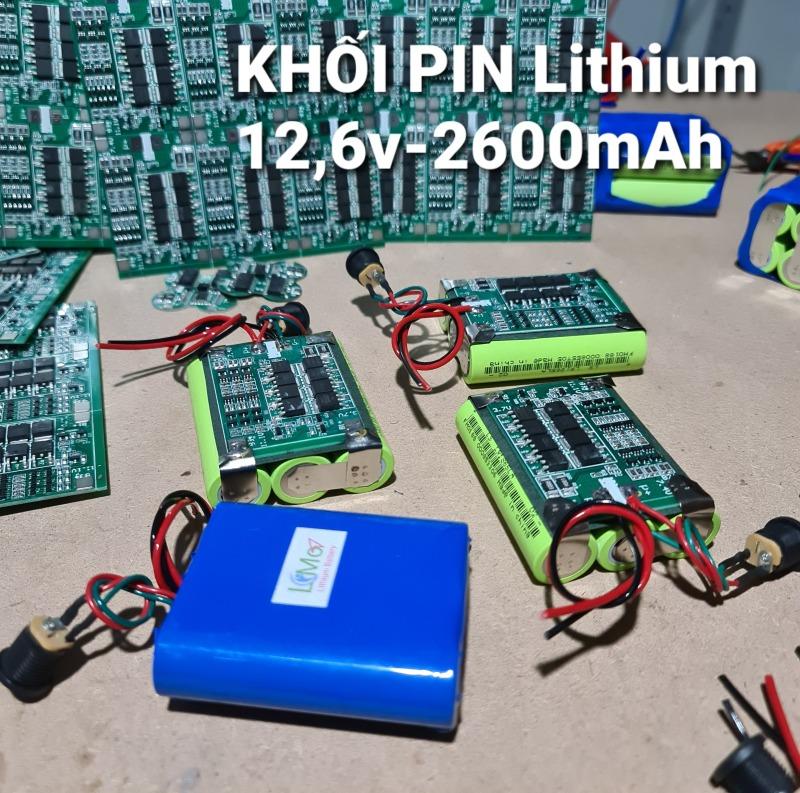 Khối pin Lithium 3s. 12,6v 2600mAH Pin mới, dung lượng lớn, dòng xả cao - LiMo Lithium Batery