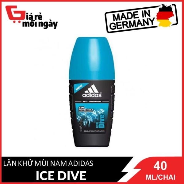 [HCM][Hàng nhập khẩu chính hãng] Lăn Khử Mùi Nam Adidas Ngăn Mồ Hôi Ice Dive 40ml nhập khẩu