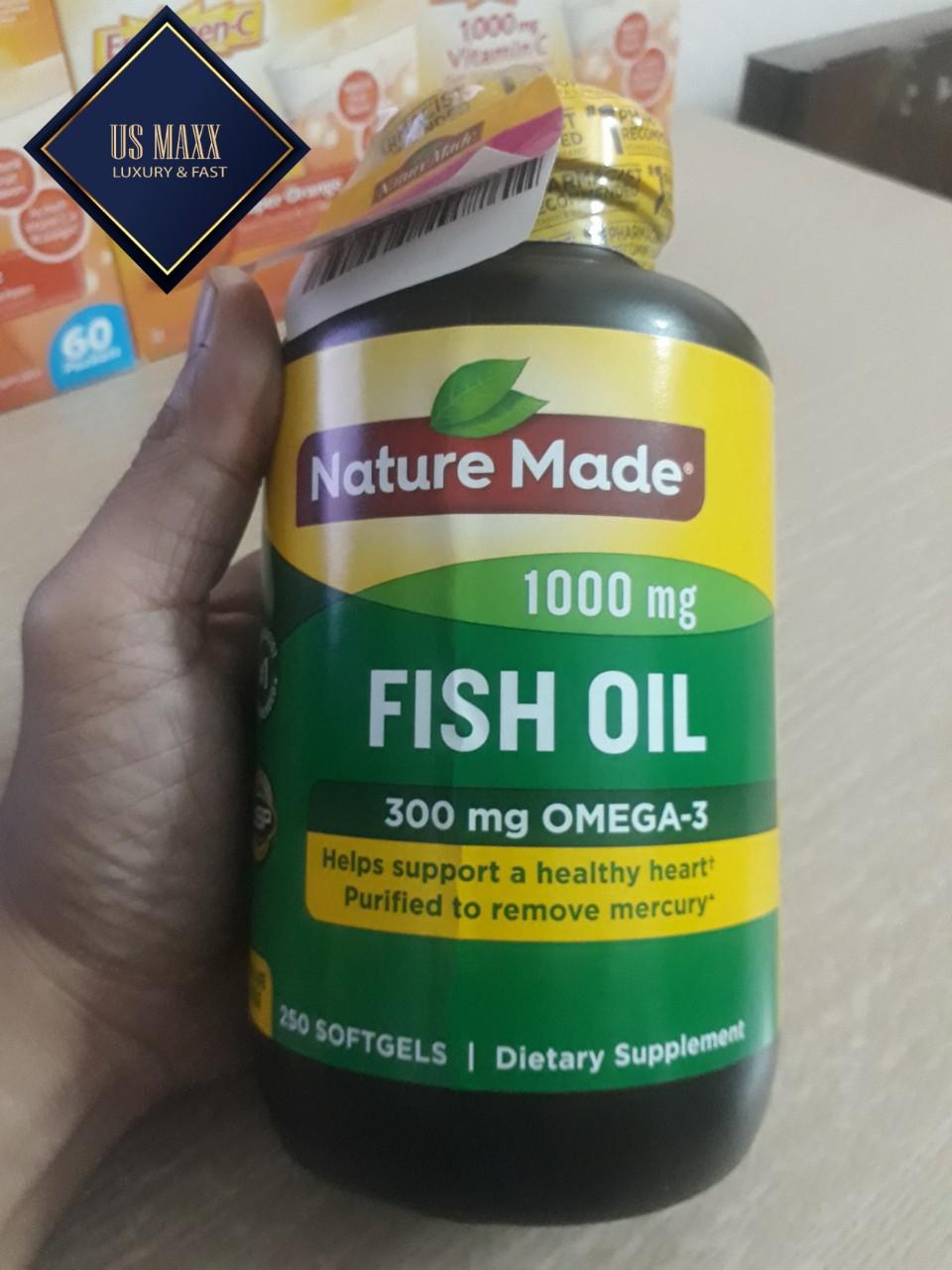 Nature Made Fist oil 1000 mg 250 viên