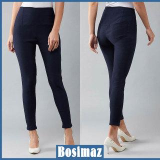 Quần Legging Nữ Bosimaz MS212 dài túi sau màu xanh navy cao cấp, thun co giãn 4 chiều, vải đẹp dày, thoáng mát không xù lông. thumbnail