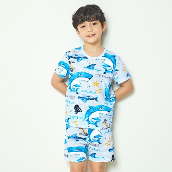 Nơi bán Bộ đồ ngắn Unifriend Hàn Quốc Uni0755 cho bé trai 1-10 tuổi, vải cotton organic Korea-Chính hãng