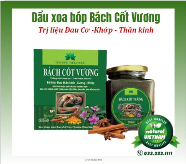 Thảo dược xoa bóp Bách Cốt Vương Trị liệu Phong Thấp - Xương khớp, Tai Biến 220ml giá rẻ