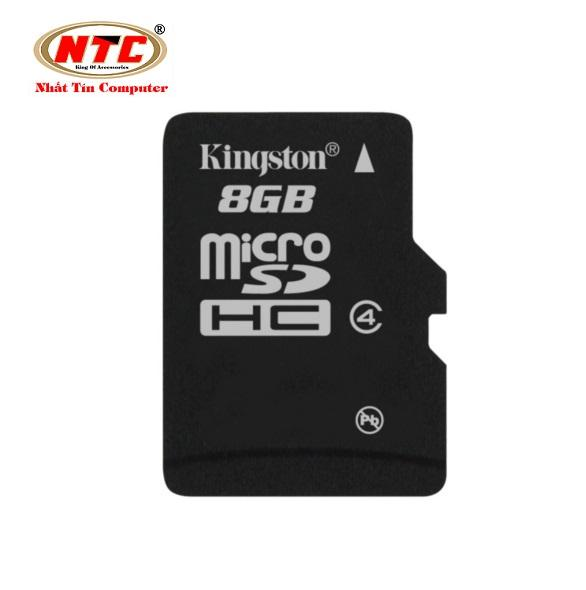 Thẻ nhớ microSDHC Kingston 8GB Class 4 (Đen) + Tặng kèm hộp thẻ